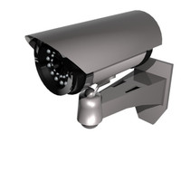 surveillance security camera 3d 3ds