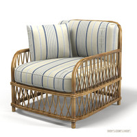 ralph lauren antibes rattan lounge chair 028-03 club armchair french style terrace classic traditional