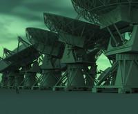 vla radio telescope 3d max