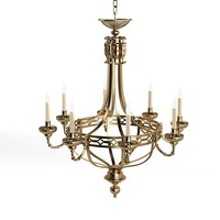 candle chandelier bronze victorian forged iron traditional classic country style pendant suspension