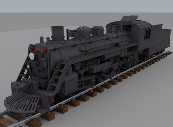 3d model steam locomotive - Steam Train... by mvcomputers