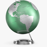 max v-ray globes metal aluminum