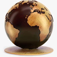 maya v-ray classical globe wood