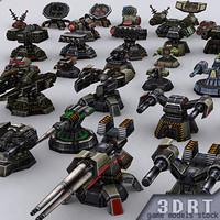 wargear turrets 3d model