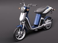 3d yamaha ec-03 electric scooter