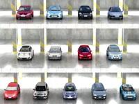 13 compact cars 3d model