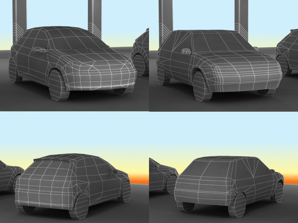 13 compact cars 3d model - 13 Low Poly compact (3 doors cars)... by be fast
