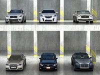 6 luxury sport sedans 3d 3ds