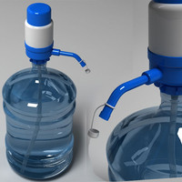 manual water pump bottle obj