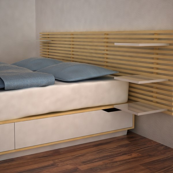 Ikea Schrank In Dachschräge ~ 3d model bed ikea mandal  Ikea Mandal Bed  by MilosJakubec