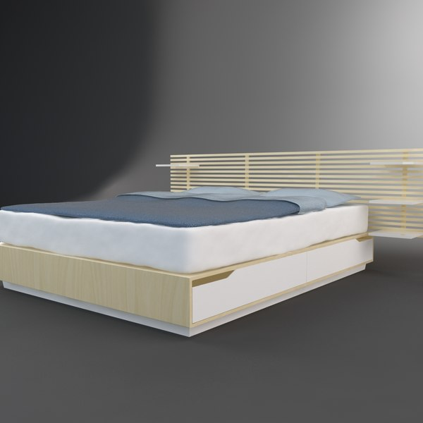 3d model bed ikea mandal  Ikea Mandal Bed  by MilosJakubec