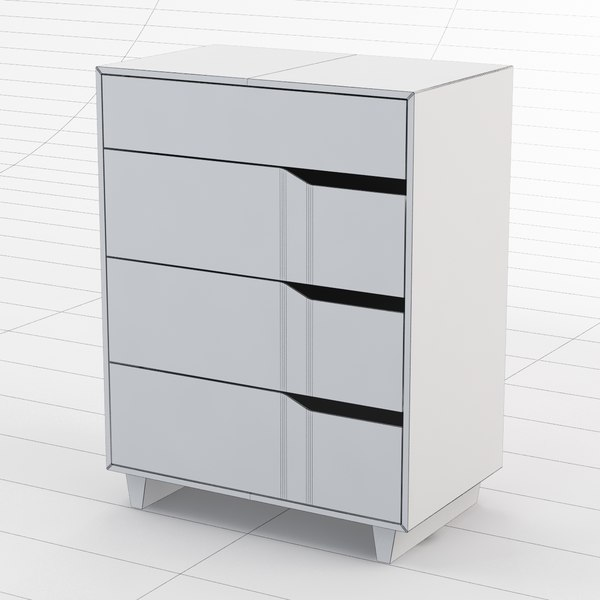 3d commode ikea mandal for Commode highboy ikea