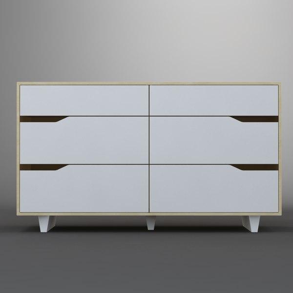 Aufbewahrung Getränkekisten Ikea ~ 3d commode ikea mandal model  Ikea Mandal 2×3  by MilosJakubec