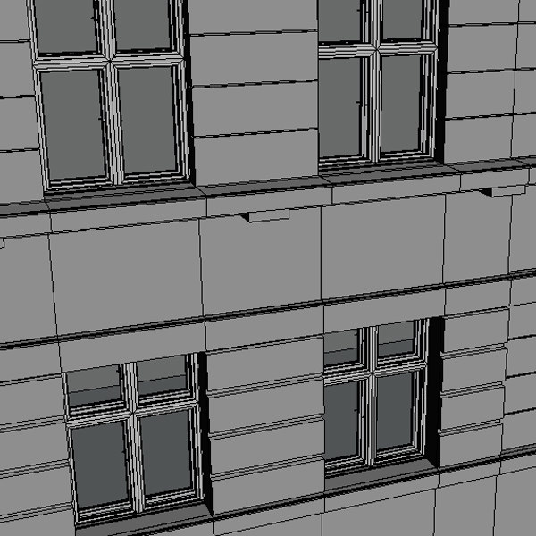 city house facade 3d model - City House 01... by mellow box
