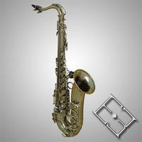 realistic saxophone 3d obj