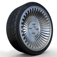 3d model yokohama s-drive tire rim