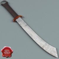 3dsmax chaina dadao sword