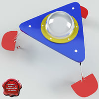 3d model childrens table ufo