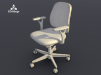 3d model office chair early bird
