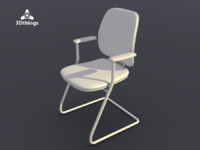 office chair early bird 3d model