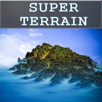 3d landscape terrain model