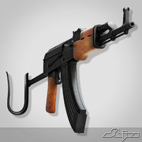 3d kalashnikov rifle ak model