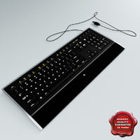 logitech illuminated keyboard 3d c4d