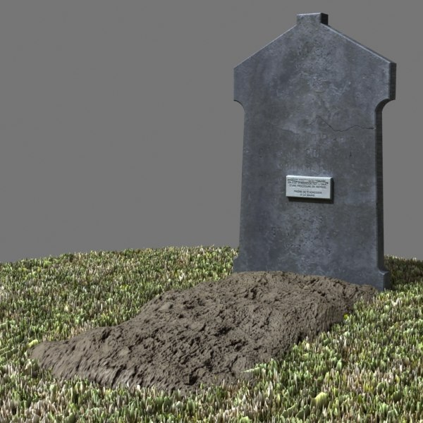 3d model of tombstone dug - Tombstone 06... by Boarini Pictures