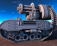 Science fiction fantasy military tank
