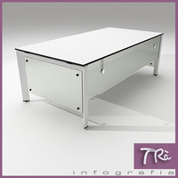 office table ottima 3d model