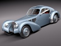 bugatti type atlantic antique 3d model