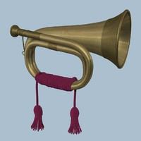 3ds max old military horn