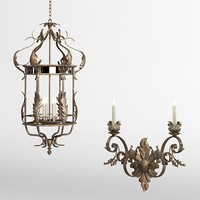 classic bronze antique lanternt pendant suspension chandelier wall lamp candle sconce  traditional brass iron forged