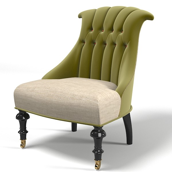 classic tufted modern 3d max