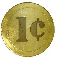 3d coins golden model
