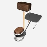 vintage toilet 3d model