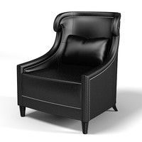 Baker 6312 Tuileries Chair contemporary traditonal leather armchair wing chair  neoclassic art deco