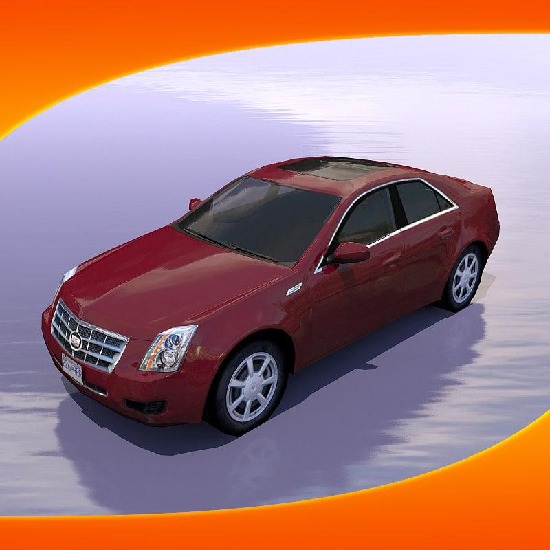 Awd Cadillac Cts: Cadillac Cts Car 3d Model