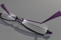 3d model of glasses modern hip