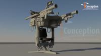 3d model igla missile rocket