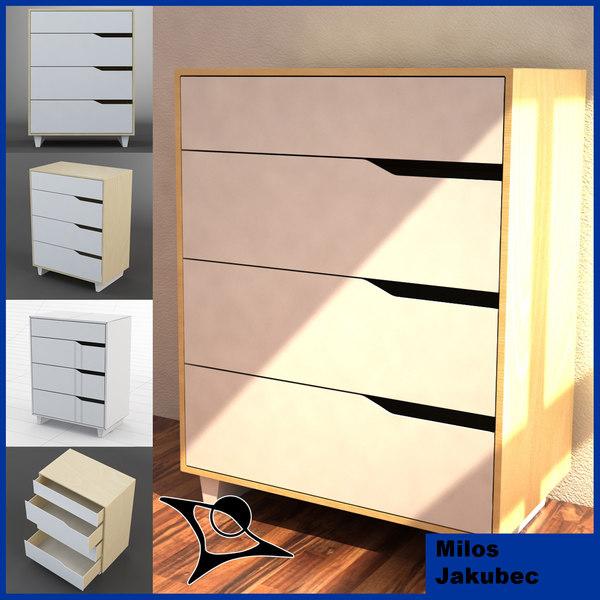 Ikea Folding Table Hong Kong ~ 3d commode ikea mandal  Ikea Mandal 1×4  by MilosJakubec