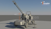 antiaircraft artillery 3d model