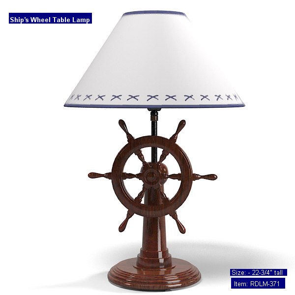 robinsdocksideshop rdlm-321 classic traditional provence table lamp  ships sphip rudder weel country robins dock side shop.jpg