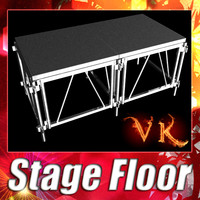 stage floor 3d 3ds