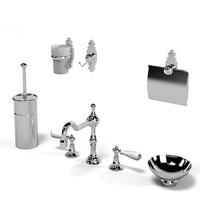 3d thg bathroom accessories model