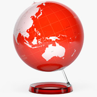 3d v-ray globe earth colored