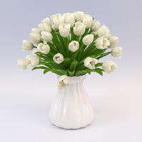 3ds max bouquet tulips