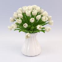 3ds max bouquet tulips