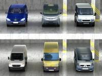 6 vans 3d model