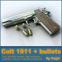 Colt 1911 + bullets